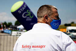 Ales Galof as safety manager during 1st Stage of 27th Tour of Slovenia 2021 cycling race between Ptuj and Rogaska Slatina (151,5 km), on June 9, 2021 in Slovenia. Photo by Vid Ponikvar / Sportida