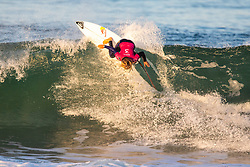 Caroline Marks (USA) advanced directly to Round 3 of the 2018 Roxy Pro France after winning Heat 1 of Round 1 in Hossegor, France.