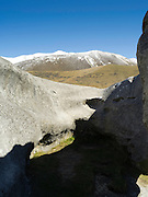 View of Castle Hill, between Arthur's and Darfield Passes, New Zealand.  Kura Tawhiti Conservation Area.