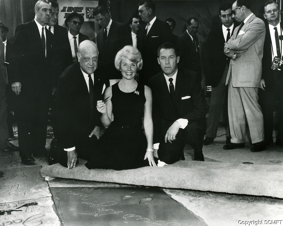1961 Doris Day's hand/footprint ceremony at the Chinese Theater