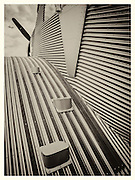 Tread leading to the open cockpit of the Junkers F13, said to be the first metal aircraft that carried passengers.  The German luggage company Rimowa is building new versions of this aircraft for sale.  The passenger cabin was enclosed and heated.<br /> <br /> Created by aviation photographer John Slemp of Aerographs Aviation Photography. Clients include Goodyear Aviation Tires, Phillips 66 Aviation Fuels, Smithsonian Air & Space magazine, and The Lindbergh Foundation.  Specialising in high end commercial aviation photography and the supply of aviation stock photography for advertising, corporate, and editorial use.