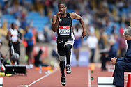 Johnny Sawyers competing in the Men's Triple Jump Final. The British Championships 2016, athletics event at the Alexander Stadium in Birmingham, Midlands  on Saturday 25th June 2016.<br /> pic by John Patrick Fletcher, Andrew Orchard sports photography.