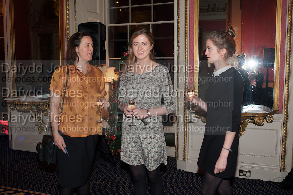 ELIZA WAUGH; CONSTANCE WATSON; BEATRICE WATSON, The Literary Review Bad Sex in Fiction Award 2013. The In and Out Club, 4 St. james's Sq. London. 3 December 2013