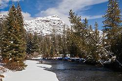 Soda Butte Creek in the Yellowstone's Absaroka Mountains in winter.