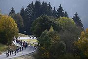 Foto Fabio Ferrari/LaPresse <br /> 22 ottobre 2020 Italia<br /> Sport Ciclismo<br /> Giro d'Italia 2020 - edizione 103 - Tappa 18 - Da<br /> Pinzolo a Laghi di Cancano (Parco Nazionale Stelvio)<br /> (km 207)<br /> Nella foto: durante la gara.<br /> <br /> Photo Fabio Ferrari/LaPresse<br /> October 22, 2020  Italy  <br /> Sport Cycling<br /> Giro d'Italia 2020 - 103th edition - Stage 18 - From<br /> Pinzolo to Laghi di Cancano (Parco Nazionale Stelvio)<br /> In the pic: during the race.