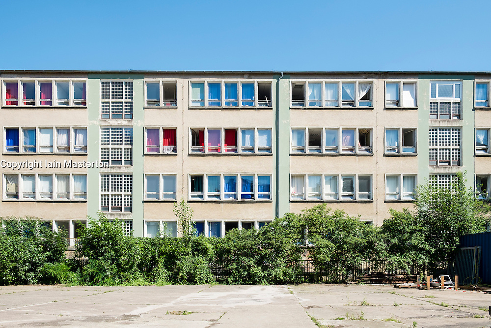 Old School now used as accomodation for Refugees and Asylum seekers in Berlin Germany