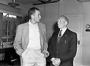 7/8/1958<br /> 8/7/1958<br /> 07 August 1958<br /> <br /> Herb Elliot Australian distance runner with Irish Shell executives and staff at their offices