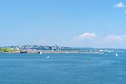 Seaside view as you're entering Portland Harbor,  Portland, Maine, USA.