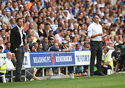 Derby County manager Frank Lampard and Reading's Manager Paul Clement (right)