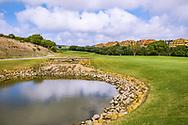 22-10-2018 Almenara Golf Club in Sotogrande, Cádiz, ontworpen door Dave Thomas.<br /> ALMENARA: hole 4 Los Alcornoques