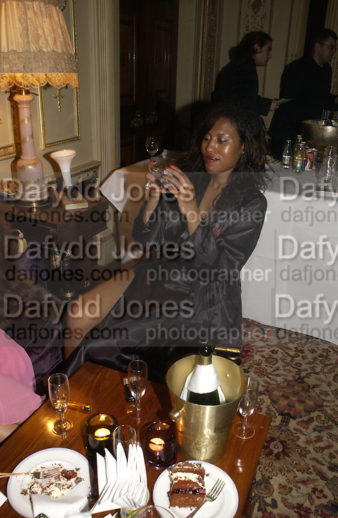 Michelle Phookho. Philip Sallon and Bruce Fielding Joint birthday party. Home House. London. 12  November 2005 . ONE TIME USE ONLY - DO NOT ARCHIVE © Copyright Photograph by Dafydd Jones 66 Stockwell Park Rd. London SW9 0DA Tel 020 7733 0108 www.dafjones.com