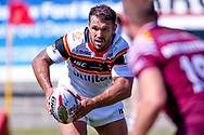 Bradford Bulls Scott Moore (34) runs from dummy half  during the Kingstone Press Championship match between Batley Bulldogs and Bradford Bulls at the Fox's Biscuits Stadium, Batley, United Kingdom on 16 July 2017. Photo by Simon Davies.