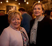 02/04/2019 Repro free:  <br /> Carmel Brennan Galway Chamber and Adrienne Turley - Branch Manager - AIB at Harvest in the Mick Lally Theatre , an opportunity to share ideas for innovation and growth and discuss how to cultivate the city as a destination for innovation, hosted by GTC  and Sponsored by AIB and The Sunday Business Post .<br /> <br /> A keynote address Start Up to Multinational - Positioning & Marketing Software for an International Audience from Joe Smyth, VP of R&D at Genesysat Genesys and a Panel Discussion on International Growth Through Innovation and Positioning<br /> Mary Rodgers- Innovation Community Managerat the Portershed (moderator)<br /> Kathryn Harnett- Senior Consultantat Milltown Partners LLP, Giovanni Tummarello, Founder and CPOat Siren,  Mark Quick, Founding Director 9th Impact and Founding Director, Nephin Whiskey, Nicola Barrett, Senior Marketing Managerat Connacht Rugby<br />  Photo: Andrew Downes, Xposure