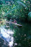 Outrigger Canoe, Utwa-Walung Marine Park, Kosrae, Micronesia<br />