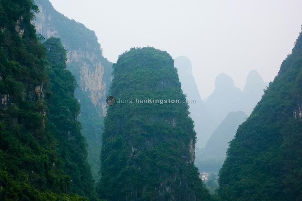 Karst formations near Yangshuo, China.