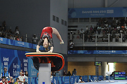 October 9, 2018 - Buenos Aires, Buenos Aires, Argentina - EMMA SPENCE of Canada competes during the Women's Vault Qualification on Day 2 of the Buenos Aires 2018 Youth Olympic Games at the Olympic Park. (Credit Image: © Patricio Murphy/ZUMA Wire)