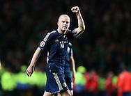 Steven Naismith of Scotland celebrates the win  - UEFA Euro 2016 Qualifier - Scotland vs Republic of Ireland - Celtic Park Stadium - Glasgow - Scotland - 14th November 2014  - Picture Simon Bellis/Sportimage