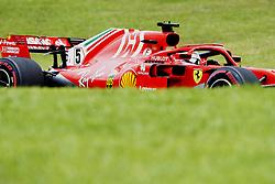 November 10, 2018 - Sao Paulo, Sao Paulo, Brazil - Nov, 2018 - SEBASTIAN VETTEL of Ferrari, first position in the training. Third free practice for the Brazilian Grand Prix of Formula 1, at the Interlagos race track in Sao Paulo. Sao Paulo, Brazil, November 10, 2018. (Credit Image: © Marcelo Chello/ZUMA Wire)