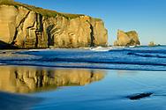 Oceania, New Zealand, Aotearoa, South Island, Otago Coast, Dunedin, Tunnel Beach