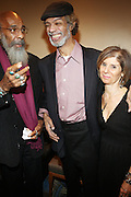 l to r: Richie Havens, Gil Scott and Jill Newman backstage at Gil Scott Heron Produced by Jill Newman Productions and held at BB King on November 4, 2009 in New York City