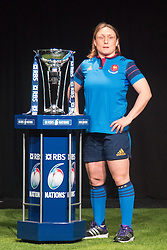 Hurlingham Club, London, January 27th 2016. France Women's Captain Gaëlle Mignot at the launch of the RBS Six Nations Rugby Tornament. ///FOR LICENCING CONTACT: paul@pauldaveycreative.co.uk TEL:+44 (0) 7966 016 296 or +44 (0) 20 8969 6875. ©2015 Paul R Davey. All rights reserved.