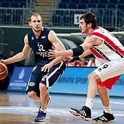 Anadolu Efes's Sinan Guler (L) during their Turkish Basketball League match Anadolu Efes between Bandirma Kirmizi at Sinan Erdem Arena in Istanbul, Turkey, Saturday, December 24, 2011. Photo by TURKPIX