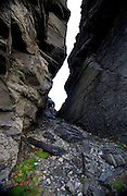 Crevasse at Hag's Head, at the Cliffs of Moher, Co. Clare, Ireland