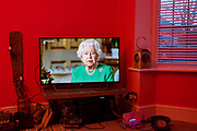 Queen Elizabeth II delivers a television address to the nation during the Coronavirus outbreak on 5th April 2020 in Birmingham, England, United Kingdom. This is only the fourth time in the Queen's reign that she has given such an important message to the British people. Coronavirus or Covid-19 is a new respiratory illness that has not previously been seen in humans. While much or Europe has been placed into lockdown, the UK government has announced more stringent rules as part of their long term strategy, and in particular 'social distancing'.