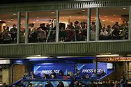 rugby fans and press. Guinness Pro14 rugby match, Cardiff Blues v Dragons at the Cardiff Arms Park in Cardiff, South Wales on Friday 6th October 2017.<br /> pic by Andrew Orchard, Andrew Orchard sports photography.