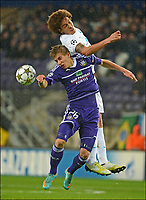 Fotball<br /> 06.11.2012<br /> Foto: PhotoNews/Digitalsport<br /> NORWAY ONLY<br /> <br /> BRUSSELS, BELGIUM - NOVEMBER 06: Dennis Praet of RSC Anderlecht and Axel Witsel of FC Zenit St-Petersburg during the UEFA Champions League Group C match between RSC Anderlecht and FC Zenit St Petersburg at the Constant Vanden Stock Stadium on 06 november 2012 in Brussels, Belgium