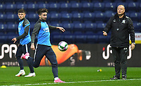 Preston North End's Sean Maguire warms up<br /> <br /> Photographer Dave Howarth/CameraSport<br /> <br /> The Carabao Cup Third Round - Preston North End v Brighton and Hove Albion - Wednesday 23rd September 2020 - Deepdale - Preston<br />  <br /> World Copyright © 2020 CameraSport. All rights reserved. 43 Linden Ave. Countesthorpe. Leicester. England. LE8 5PG - Tel: +44 (0) 116 277 4147 - admin@camerasport.com - www.camerasport.com