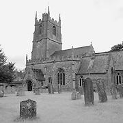 St. James Churchyard Old Headstones View - Avebury, UK - Infrared Black & White