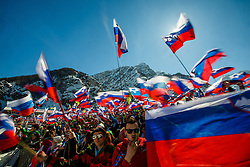 Slovenian fans during the Ski Flying Hill Team Competition at Day 3 of FIS Ski Jumping World Cup Final 2016, on March 19, 2016 in Planica, Slovenia. Photo by Grega Valancic / Sportida