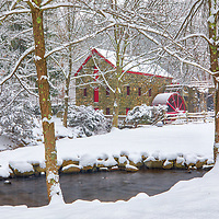 Road Trip New England winter scenery at the historic Longfellow's Wayside Inn Sudbury Grist Mill in Sudbury, Massachusetts.<br /> <br /> Road Trip New England country photography images of the Longfellow's Wayside Inn Sudbury Grist Mill are available as museum quality photo, canvas, acrylic, wood or metal prints. Wall art prints may be framed and matted to the individual liking and interior design decoration needs:<br /> <br /> https://juergen-roth.pixels.com/featured/road-trip-new-england-juergen-roth.html<br /> <br /> Good light and happy photo making!<br /> <br /> My best,<br /> <br /> Juergen
