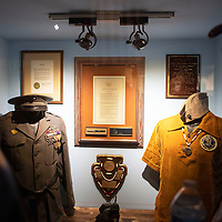 A display case is viewed as part of the new Navajo Code Talker exhibit at the Gallup Cultural Center reopening Thursday, March 5 in Gallup.