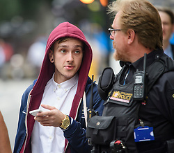 © Licensed to London News Pictures. 22/08/2017. London, UK. Cyclist Charlie Alliston arrives at The Old Bailey where he faces manslaughter charges.  Alliston was allegedly going at 18mph when he hit and killed pedestrian Kim Briggs in London in February 2016. He was riding a track bike which had no front brakes .Photo credit: Ben Cawthra/LNP
