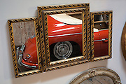 Image of a Porsche Speedster reflected in framed mirrors, Seattle, Washington, Pacific Northwest by Randy Wells