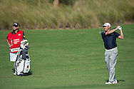 Lee Westwood follows his approach into the 15th during the second round of the Australian Open at The Australian Golf Club, Sydney (Photo: Anthony Powter)