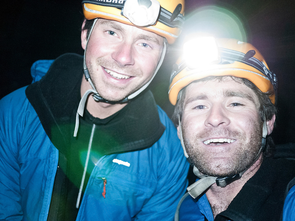 Me and Colin Haley after the Devils Thumb traverse.
