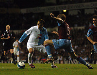 Photo: Tony Oudot.<br /> Tottenham Hotspur v Aston Villa. The FA Barclays Premiership. 01/10/2007.<br /> Dimitar Berbatov of Tottenham goes past Martin Laursen of Aston Villa