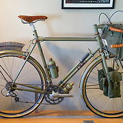 One of the many custom bicycles on display at Chris King Precision Components in Portland, Oregon.