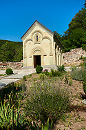 Pictures and images of the chapel in the historic medieval Kintsvisi Monastery Georgian Orthodox Monastery complex, Shida Kartli Region, Georgia (country).<br /> <br /> Kintsvisi Monastery is the best preserved example of Georgian architecture of the 12th and 15th centuries, the so called Georgian Golden Age. .<br /> <br /> Visit our MEDIEVAL PHOTO COLLECTIONS for more   photos  to download or buy as prints https://funkystock.photoshelter.com/gallery-collection/Medieval-Middle-Ages-Historic-Places-Arcaeological-Sites-Pictures-Images-of/C0000B5ZA54_WD0s<br /> <br /> Visit our REPUBLIC of GEORGIA HISTORIC PLACES PHOTO COLLECTIONS for more photos to browse, download or buy as wall art prints https://funkystock.photoshelter.com/gallery-collection/Pictures-Images-of-Georgia-Country-Historic-Landmark-Places-Museum-Antiquities/C0000c1oD9eVkh9c