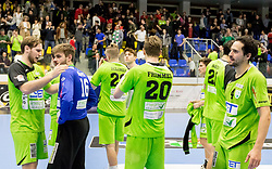 18.03.2017, BSFZ Suedstadt, Maria Enzersdorf, AUT, HLA, SG INSIGNIS Handball WESTWIEN vs Moser Medical UHK Krems, Oberes Playoff, 6. Runde, im Bild Philipp Rabenseifer (SG INSIGNIS Handball WESTWIEN), Florian Kaiper (SG INSIGNIS Handball WESTWIEN), Wilhelm Jelinek (SG INSIGNIS Handball WESTWIEN), Julian Pratschner (SG INSIGNIS Handball WESTWIEN), Sebastian Frimmel (SG INSIGNIS Handball WESTWIEN), Jakob Jochmann (SG INSIGNIS Handball WESTWIEN), Gabor Hajdu (SG INSIGNIS Handball WESTWIEN), Erwin Feuchtmann Perez (SG INSIGNIS Handball WESTWIEN) // during Handball League Austria, upper play off, 6 th round match between SG INSIGNIS Handball WESTWIEN and Moser Medical UHK Krems at the BSFZ Suedstadt, Maria Enzersdorf, Austria on 2017/03/18, EXPA Pictures © 2017, PhotoCredit: EXPA/ Sebastian Pucher