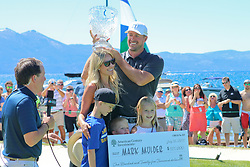 """July 16, 2017 Stateline, Nevada. USA. Winner and record setting 3 time in row Champion, MARK MULDER the former MLB All-Star Pitcher not only won the event a 3rd time in a row but he also won the closest to the pin contest at this years """"American Century Championship"""" celebrity golf  held at the Edgwood golf course on the shores of S. Lake Tahoe. Photo by Dane Andrew / Total Entertainment News. TEN. c.2017  TenPressMedia@gmail.com 408 744-9017"""