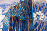 Glass office building at 1290 Broadway, Downtown Denver, Colorado USA.