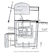 Plan of Herod's Temple [Second Temple] and Environs, Jerusalem From the Book 'Bible places' Bible places, or the topography of the Holy Land; a succinct account of all the places, rivers and mountains of the land of Israel, mentioned in the Bible, so far as they have been identified, together with their modern names and historical references. By Tristram, H. B. (Henry Baker), 1822-1906 Published in London in 1897