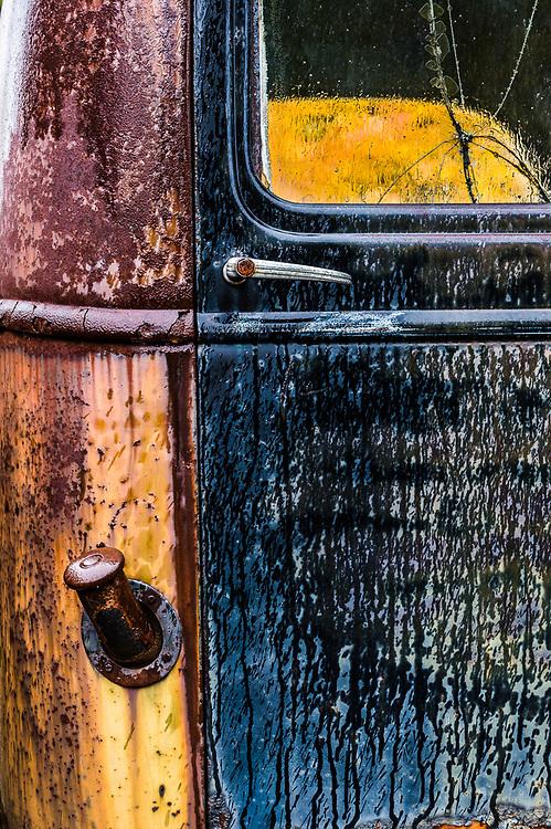 Old abandoned truck, October, Upper Peninsula, MI. USA