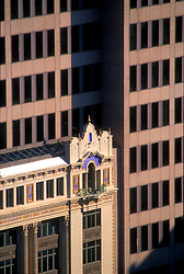 Historical architecture contrasting with modern architecture San Antonio, Texas