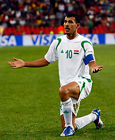 Younis Mahmoud of Iraq FIFA Confederations Cup South Africa 2009  South Africa  v Iraq at Coca Cola Park ( Ellis Park )  Stadium <br /> 14/06/2009 Credit Colorsport / Kieran Galvin