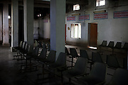 Nobody is sitting in the waiting room of the recently-constructed electric crematorium of Agra. Most people still prefer the traditional practice of using wood.